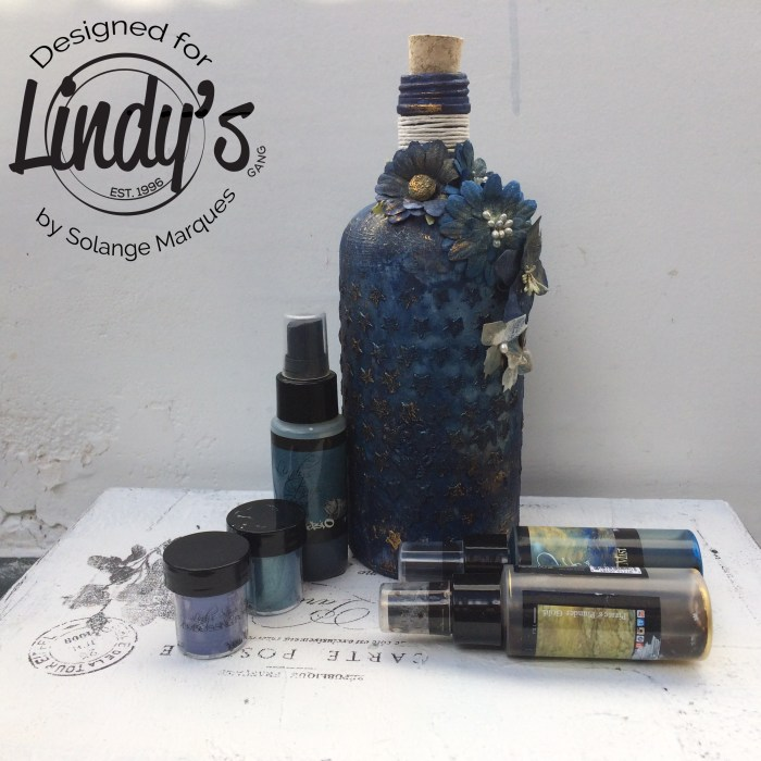 altered bottle by Solange Marques with Lindy's Stamp Gang products-01