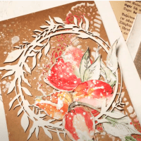 Quick Card Background using Embossing Powders with Aga Baraniak