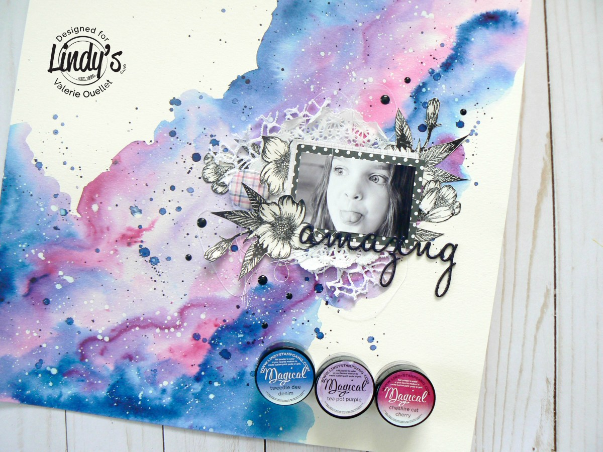 Galaxy Background using Magical Powders with Valerie Ouellet