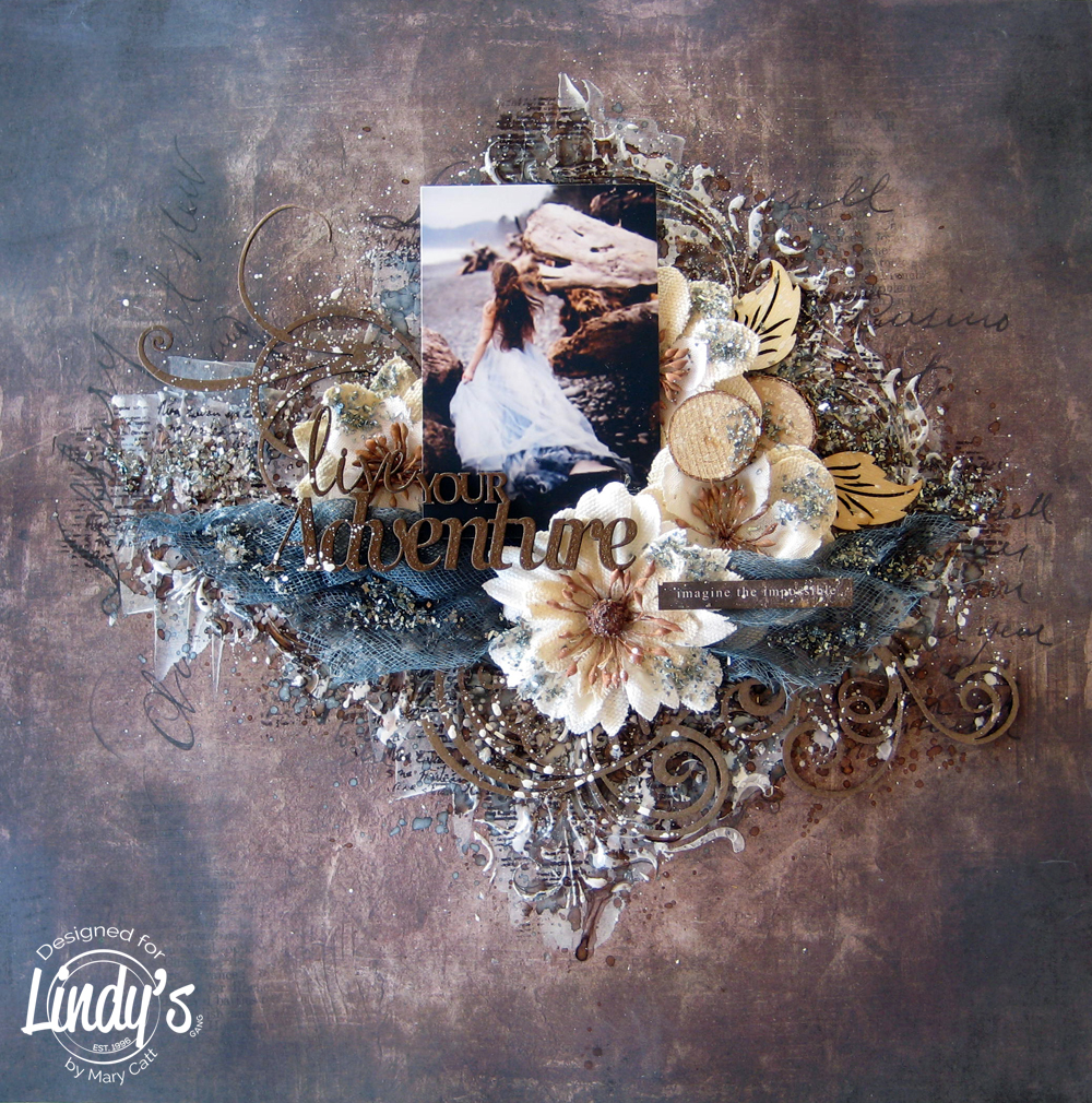 Live Your Adventure Mixed Media Layout with Mary Catt
