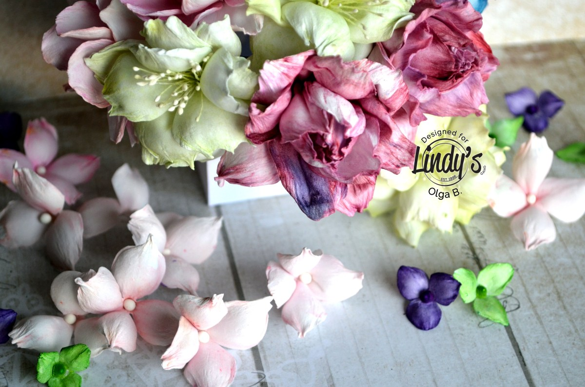 Foamiran Flower Coloring using Lindy's Products with Olga Bielska