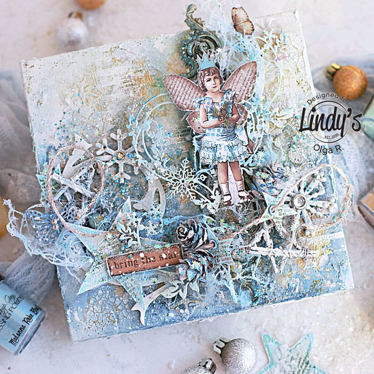 How to Create Frosty Mixed Media Panel with Olga Ravenskaya