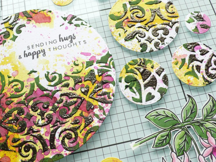 How to create a colorful card with lots of layers