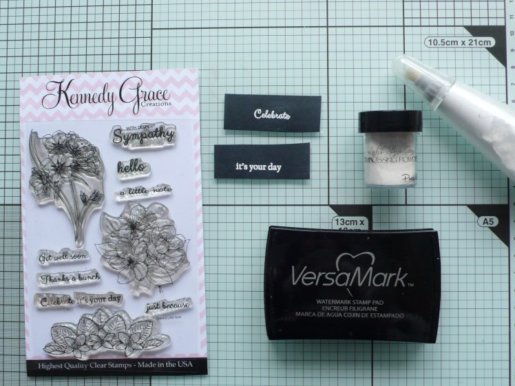 How to create a fun layered card using Lindy's and clay moulds