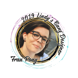 Lindys Blog Designer badge 2019 Frau Pony