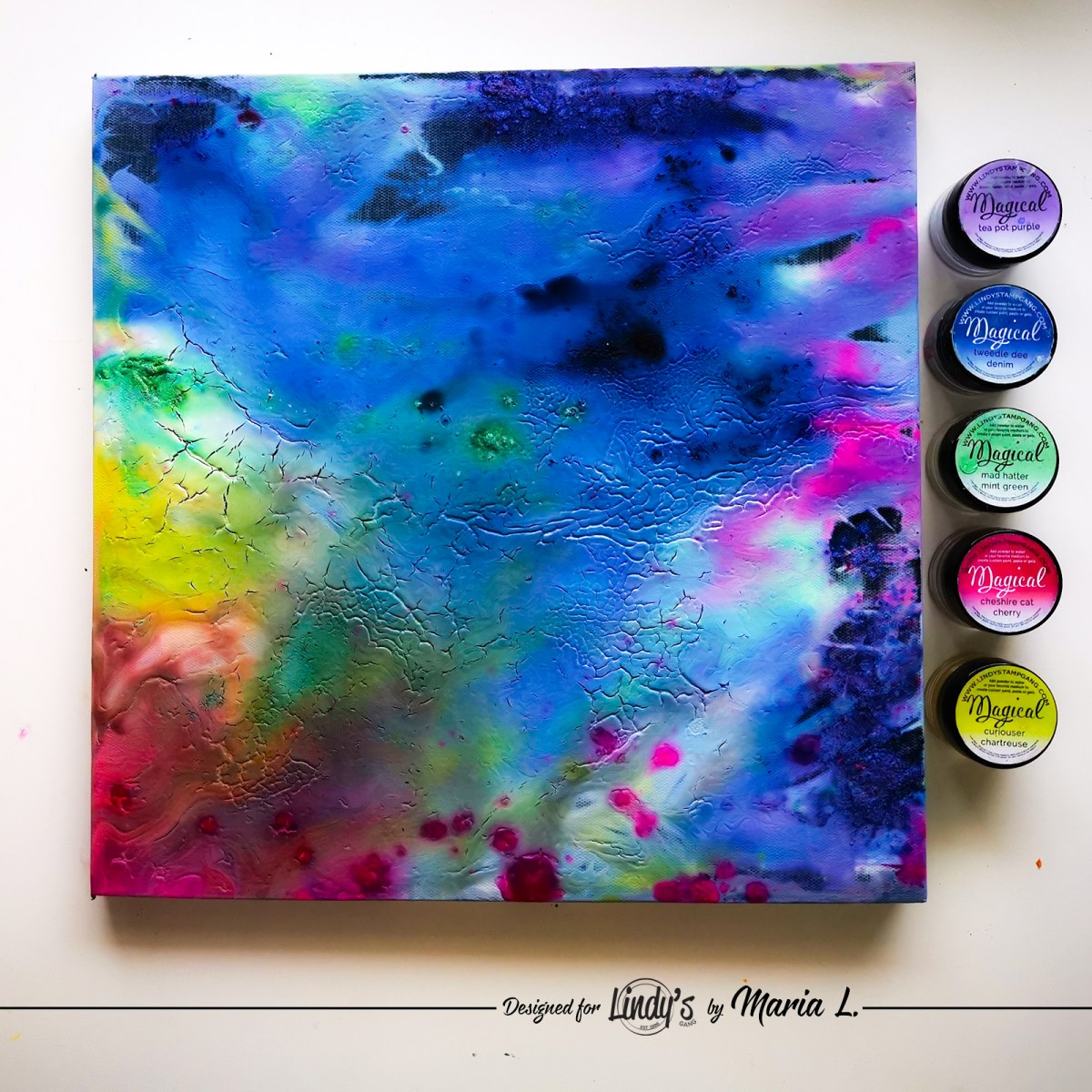 Acrylic Pouring with Magicals: Experiment by Maria Lillepruun