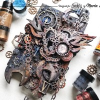 Mixed Media Steampunk Canvas with Maria Lillepruun