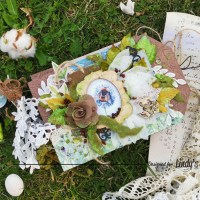 Eco Junk Album and 3 Mixed Media Tips from Maria Lillepruun
