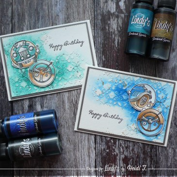 Easy masculine birthday cards with Lindy's DT Heidi