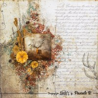 Vintage Layout with Moon Shadow Mists and Pascale