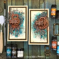 DIY Rust with Lindys Magical Shakers for Mixed Media Cards