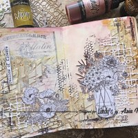 Soft and Elegant Art Journal Page using Squirts with Asia