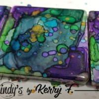 Bright and Beautiful Tile Magnets using Lindy's Magicals
