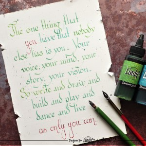 How to use LSG Squirts as your calligraphy medium