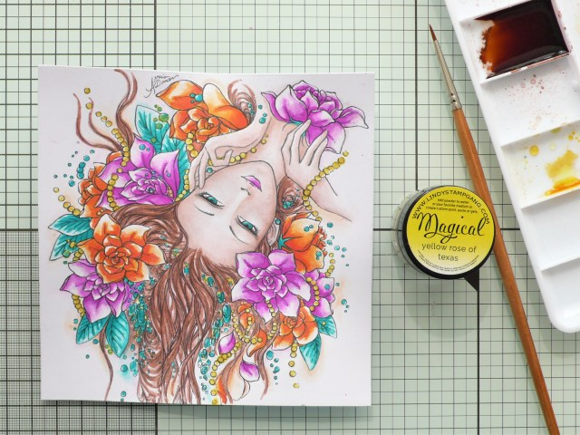 Step by step watercoloring tutorial