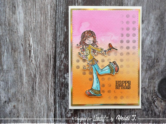 Cute Children's cards using Lindy's DT Heidi