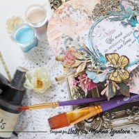 Mixed Media Heart using Lindy's Products