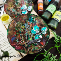 Mixed Media Cards with Lindy's Magical Shakers and Shimmer Sprays - Monika