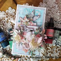 Make a multi-layered mixed media card with Katerina Vysotina