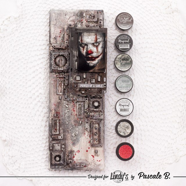 Power of a Smile - Mixed media canvas by Pascale B.