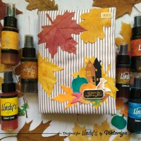 DIY Autumn Leaves Notebook Cover with Lindy's Sprays and Viktoriya P.