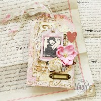 Romantic embossed tag