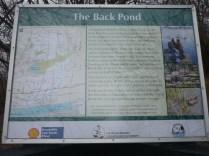 Info board at Mac Johnson Conservation Area near Brockville