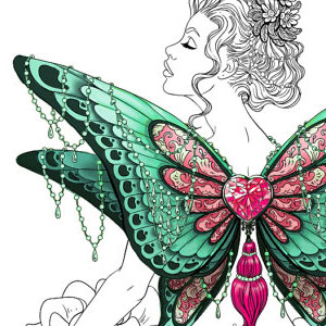 line artsy purchase fantasy butterfly adult coloring page