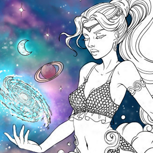 line artsy purchase genie adult coloring page