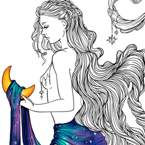 line artsy purchase moon adult coloring page