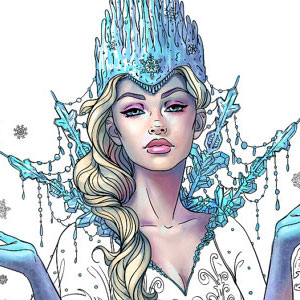 line artsy purchase snow queen adult coloring page