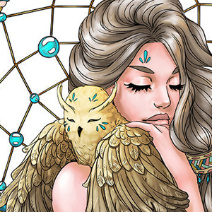 line artsy purchase dreamcatcher adult coloring page