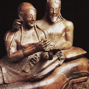 El Sarcófago de los esposos de Villa Julia, anónimo etrusco (530-510 a. C.).