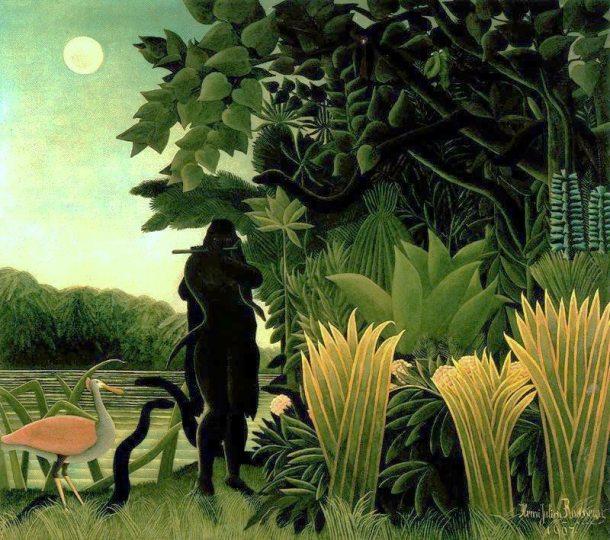 """Rousseau """"La encantadora de serpientes"""" (1907)."""