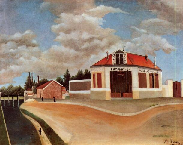 "Rousseau ""La fábrica de sillas de Alfortville"" (1897)."