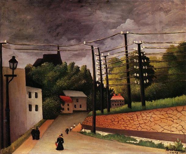 """Rousseau """"Vista de Malakoff"""" (1908)."""