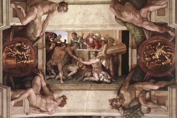 El sacrificio de Noé.