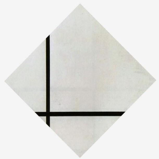 """""""Composición romboidal con dos líneas"""", 1931."""
