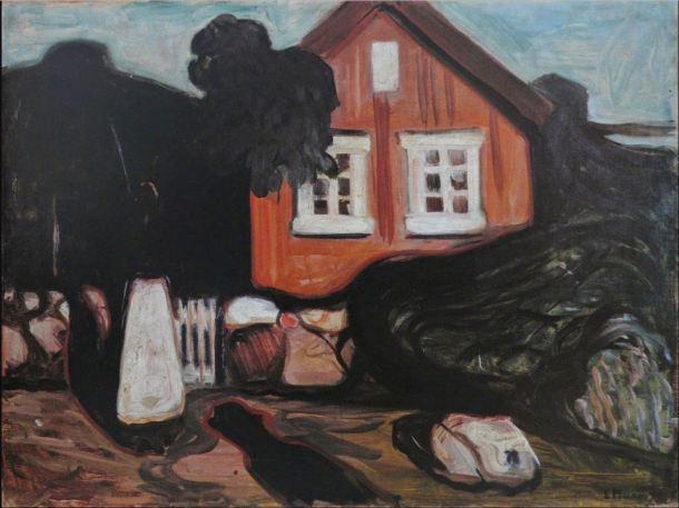 Munch Casa en claro de luna 1895