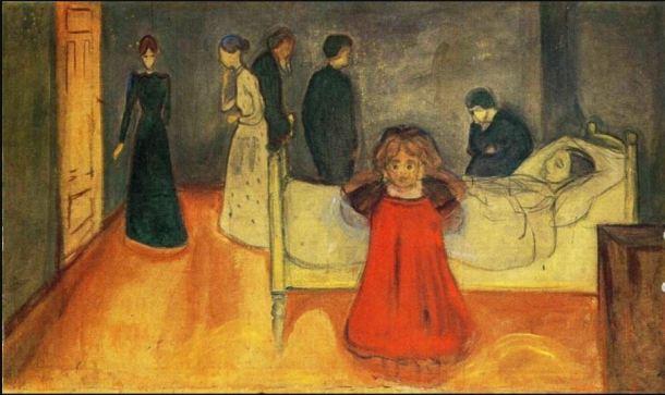 Munch Madre muerta con niña 1897-1899