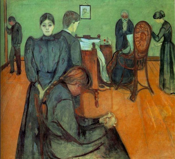 Munch Muerte en la habitación 1895