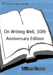 On Writing Well: The Classic Guide To Writing Nonfiction Ebook