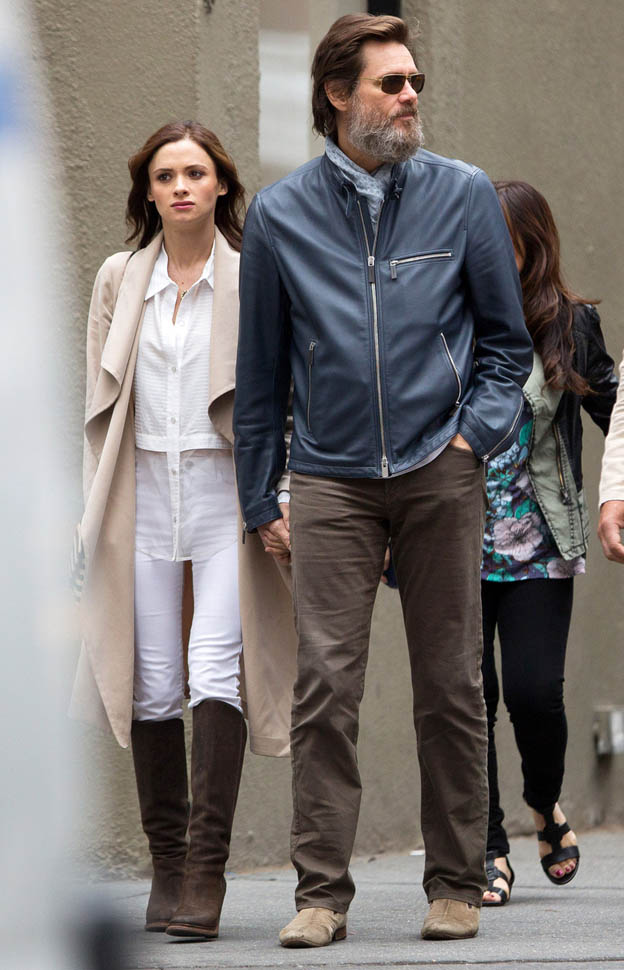 51746759 'The Bad Batch' actor Jim Carrey spotted out with a mystery woman in New York City, New York on May 18, 2015. The pair held hands as they made their way down the street. **NO AUSTRALIA OR NEW ZEALAND** 'The Bad Batch' actor Jim Carrey spotted out with a mystery woman in New York City, New York on May 18, 2015. The pair held hands as they made their way down the street. FameFlynet, Inc - Beverly Hills, CA, USA - +1 (818) 307-4813 RESTRICTIONS APPLY: NO AUSTRALIA