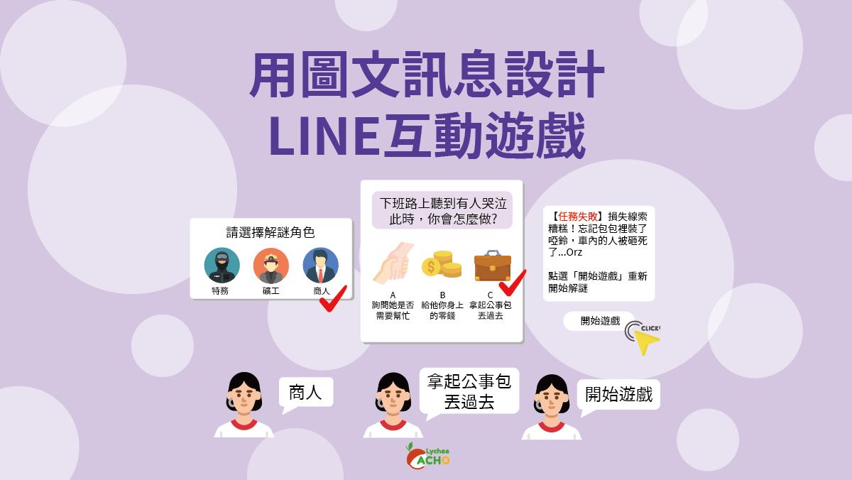 荔枝好推行銷案例-用圖文訊息做LINE互動遊戲