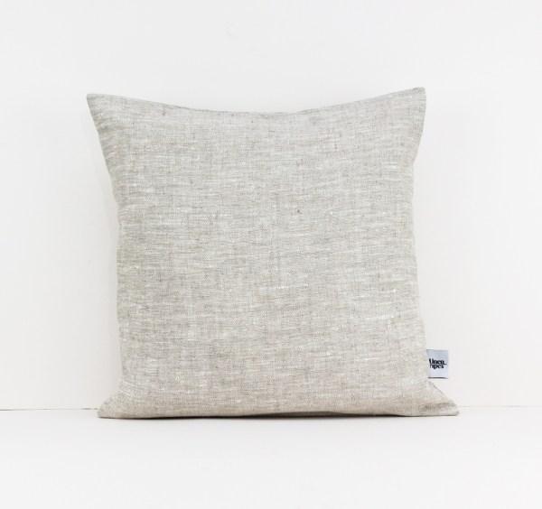 European pillow case Euro shams Linen throw pillow Beige linen pillow Decorative linen cushion case Eco friendly linen 1