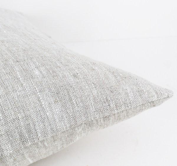 European pillow case Euro shams Linen throw pillow Beige linen pillow Decorative linen cushion case Eco friendly linen 2