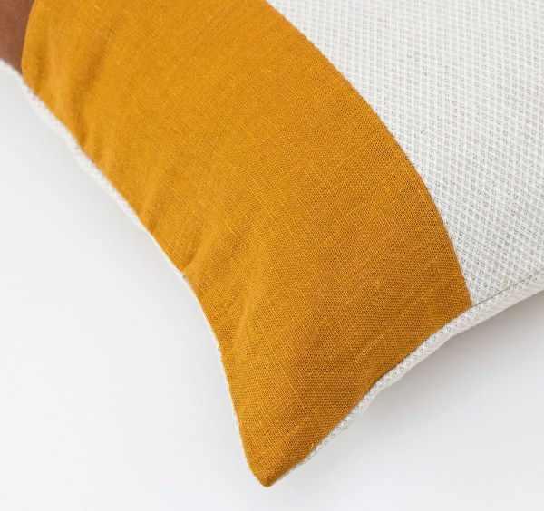 Linen and Stripes leather color retro mustard2