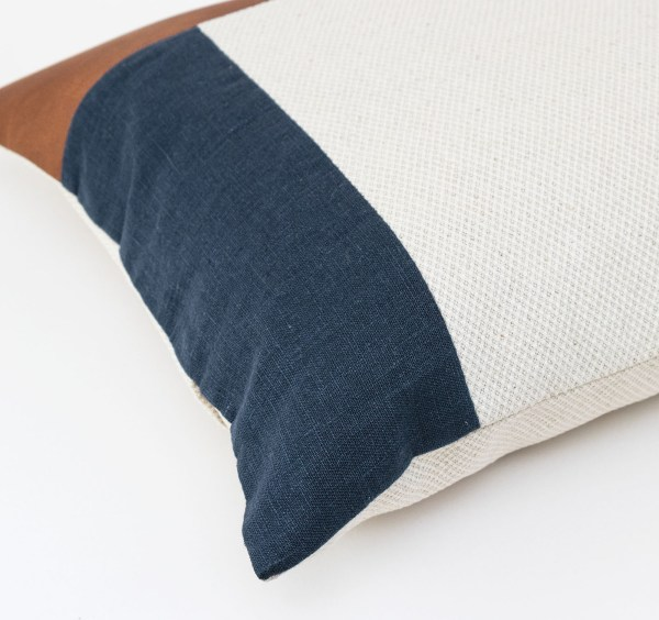 Linen and Stripes leather color retro navy2