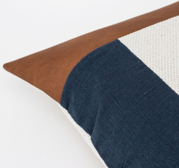 Linen and Stripes leather color retro navy3