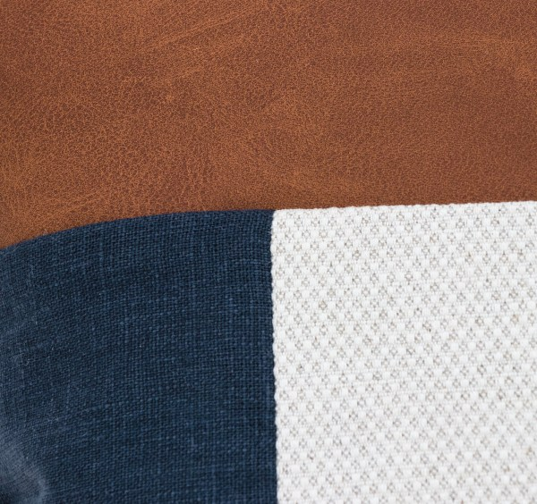 Linen and Stripes leather color retro navy4